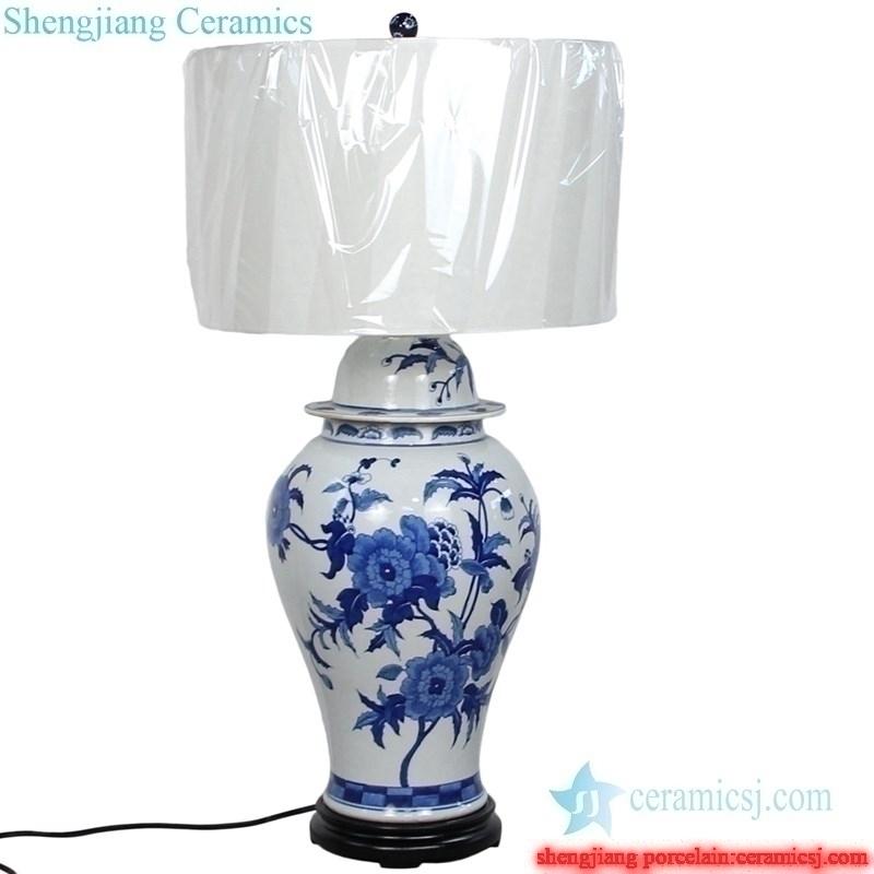 ceramic  lamp with white lampshade
