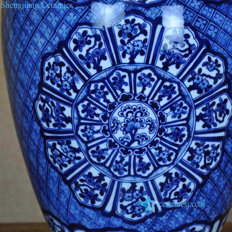 blue and white ceramic lamp