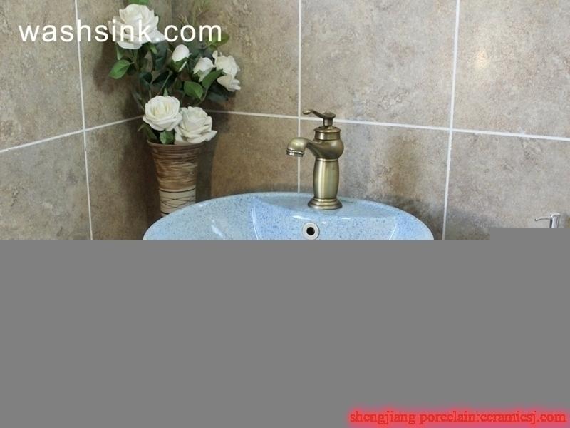 handmade blue and white wash basin
