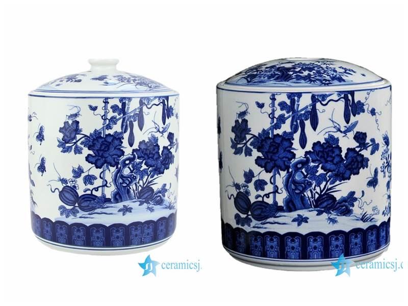 blue and white tool gouard porcelain jar