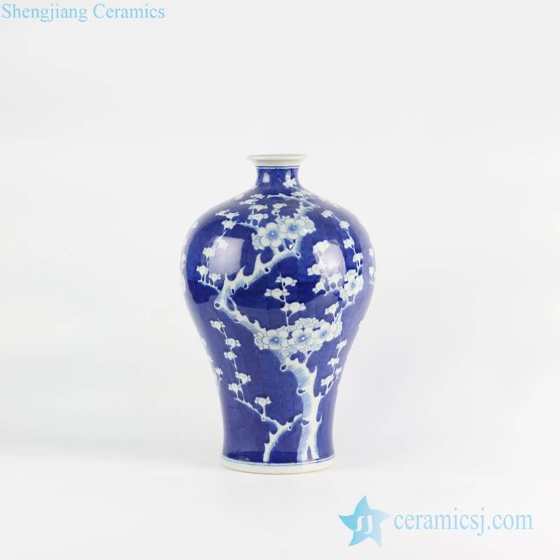 Meiping handmade vase blue and white color JDZ China made