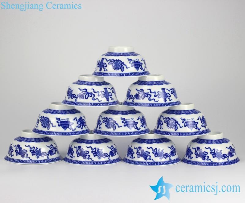 RYYY35-C_0929 blue and white handmade porcelain  bowls