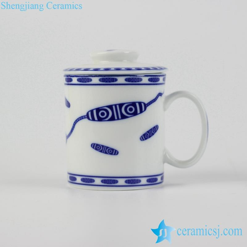 handmade blue and white gift cup