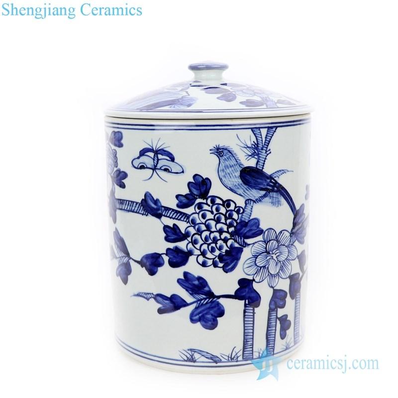 best selling ceramic tea jar with flower pattern