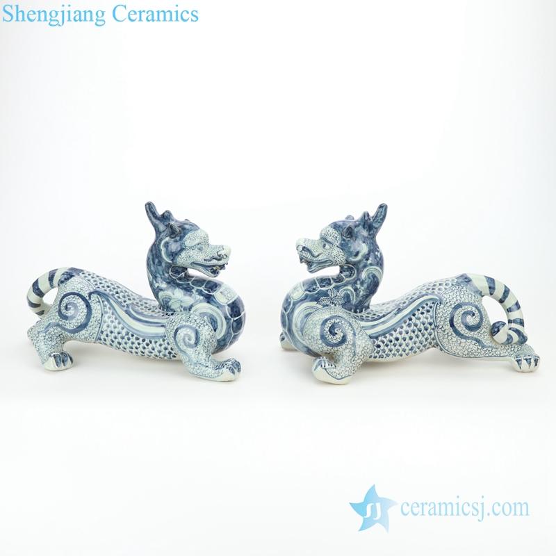 traditional handmade green dragon shaped figurine