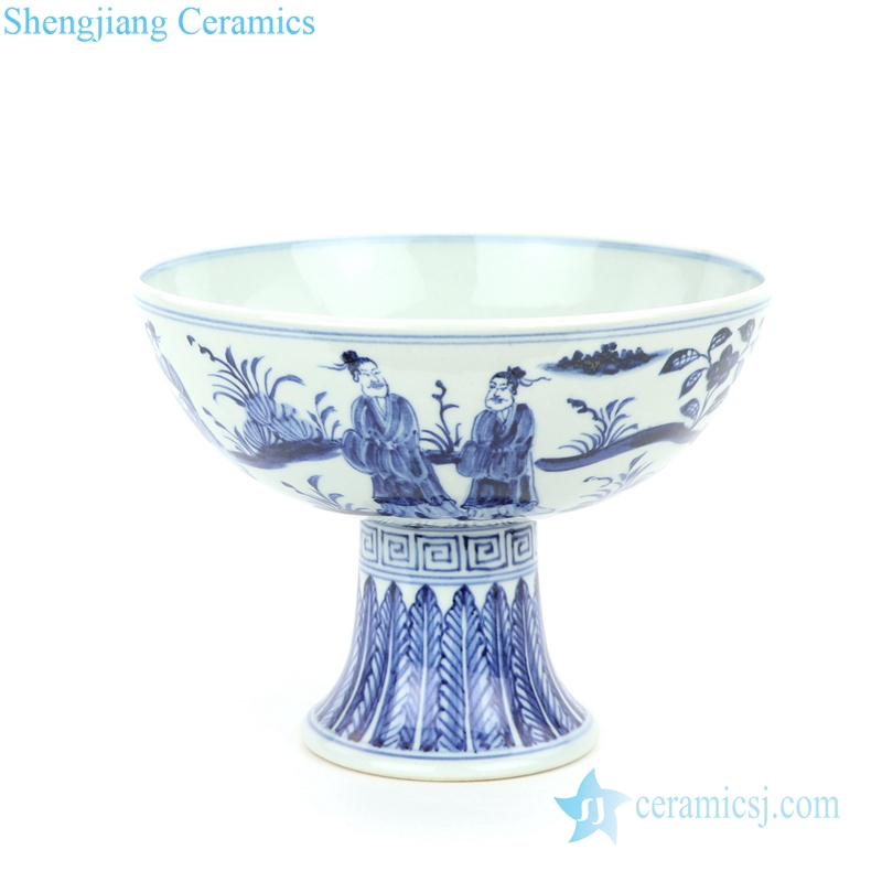 valuable handmade porcelain  with beautiful pattern bowl