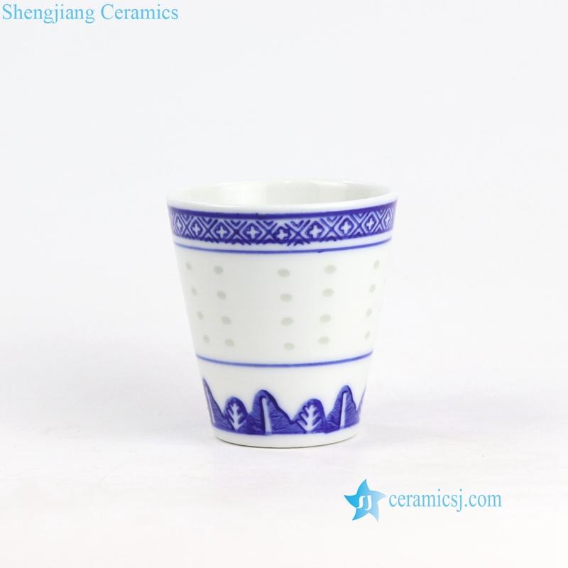 rice hole ceramic wine cup