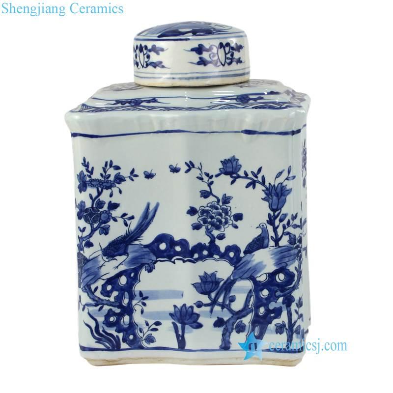 flower pattern ceramic box