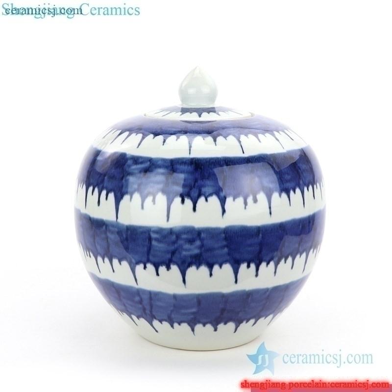 front view of ceramic tea jar
