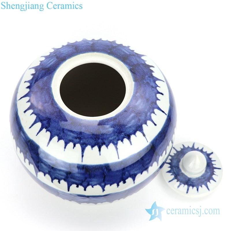 overlook view of ceramic tea jar