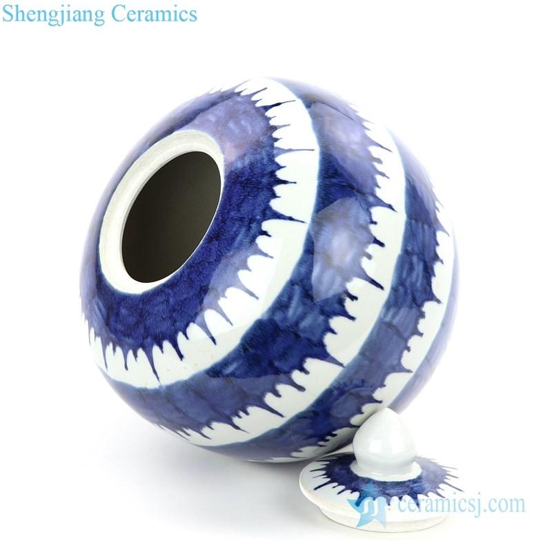 side view of  ceramic tea jar