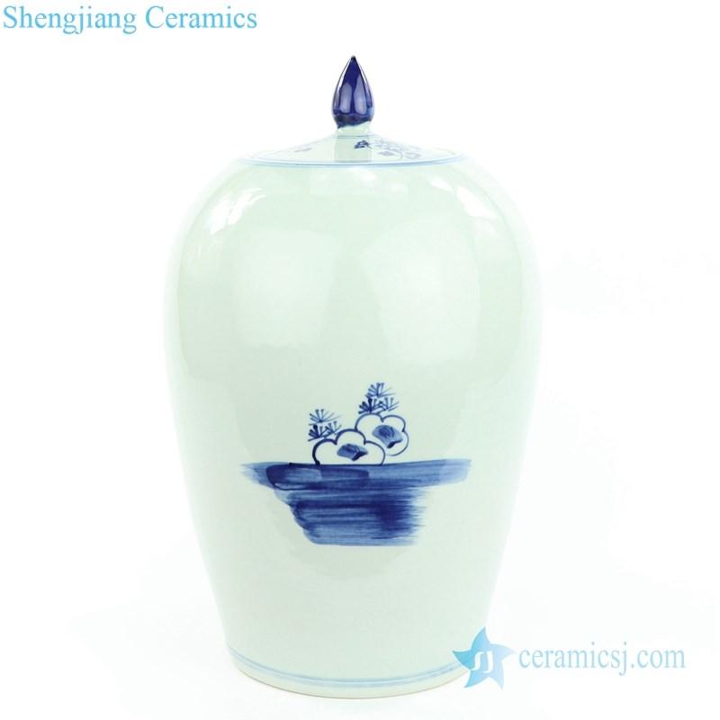 flower pattern ceramic jar