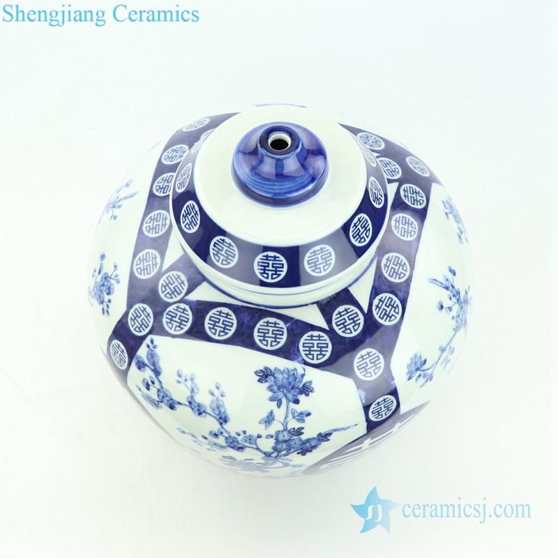 double happy narrow-mouth bottle porcelain lamp