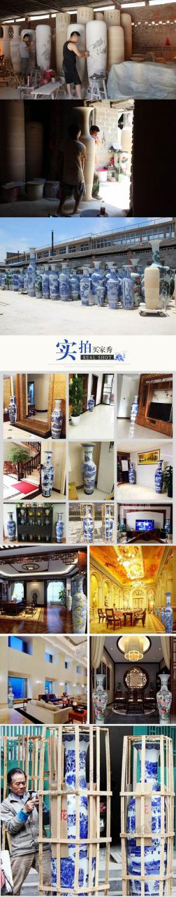 the process and real show about the large tall ceramic floor vase for home decor