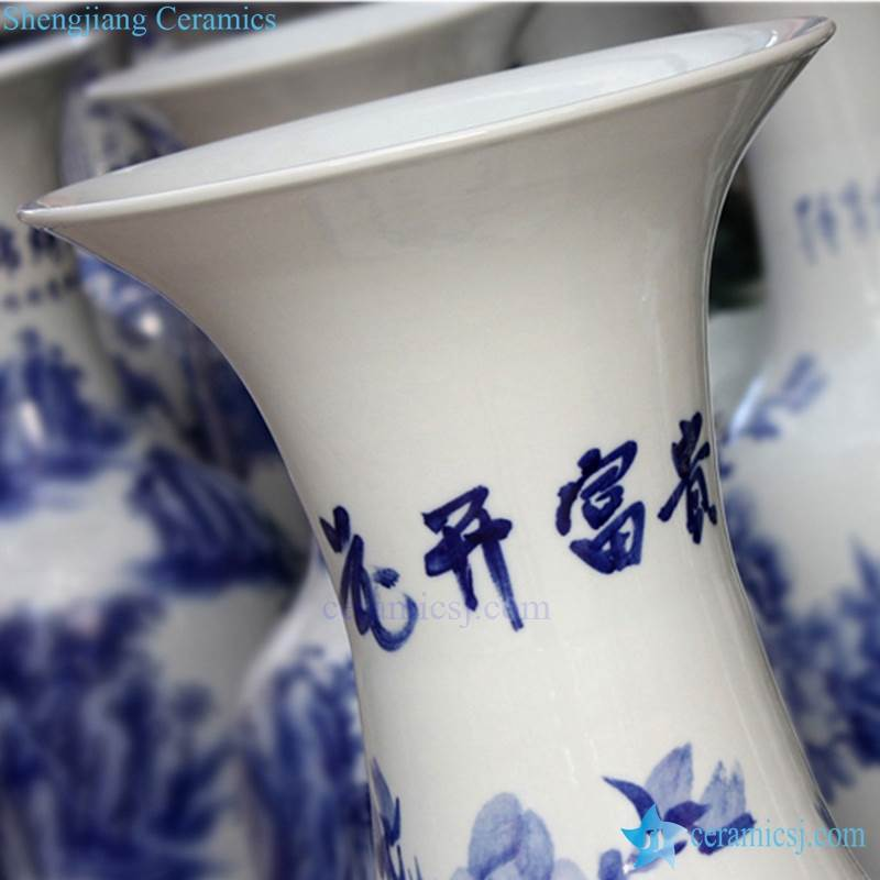 China blue and white ceramic vase