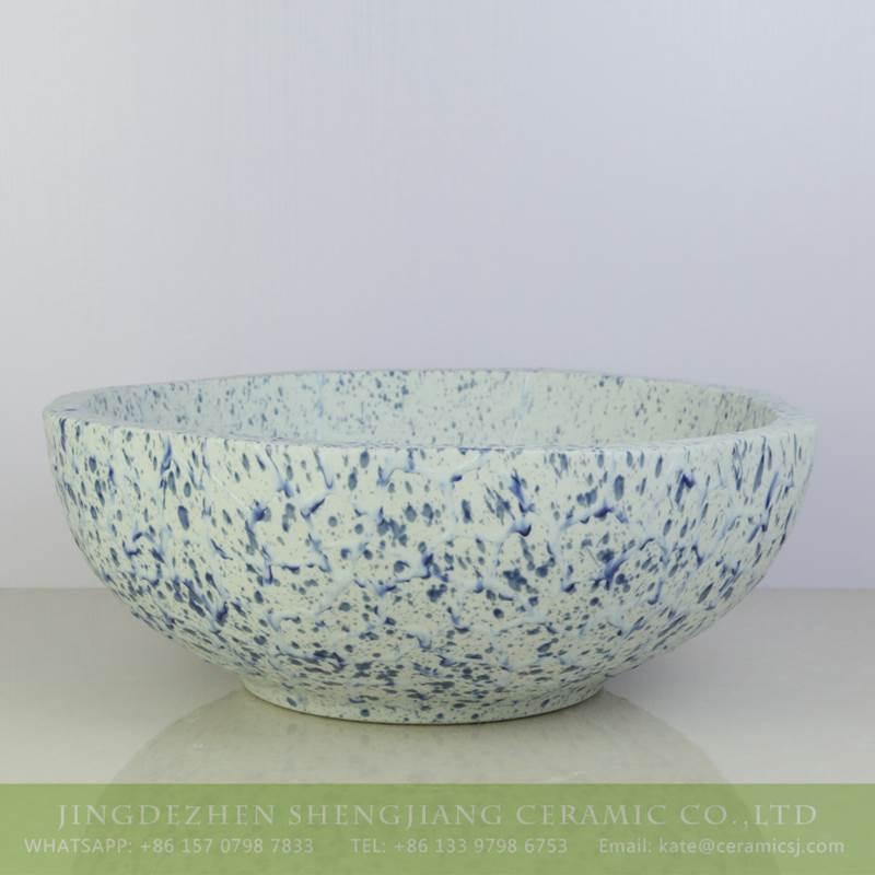 light blue petal design ceramic sink