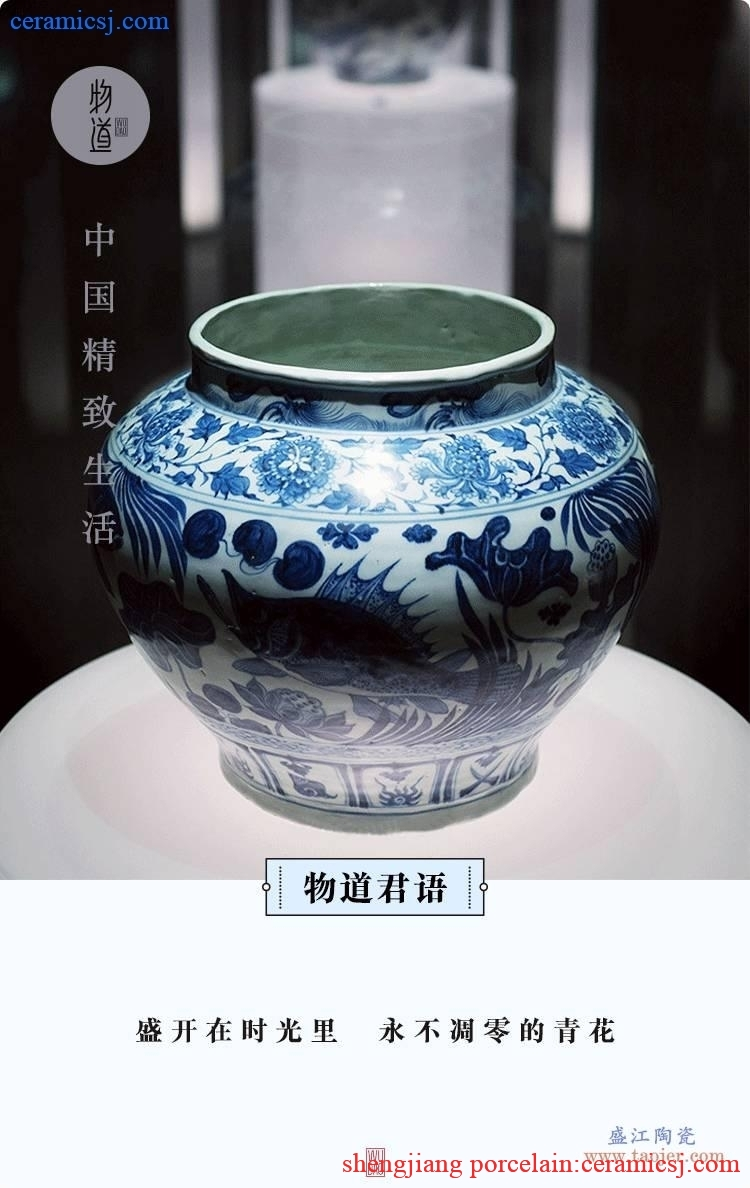 Blue and white into the porcelain, never let go of the blue and white porcelain appreciation
