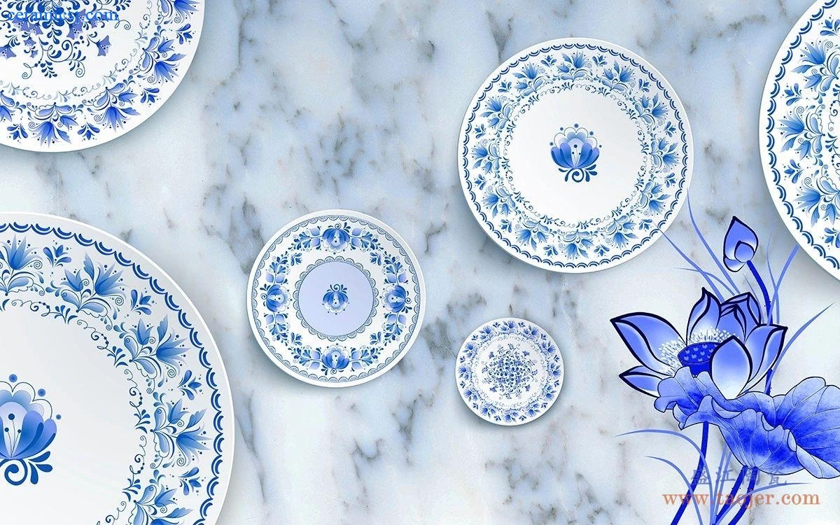 Sing a half-day blue-and-white porcelain, how did the blue-and-white porcelain come from?