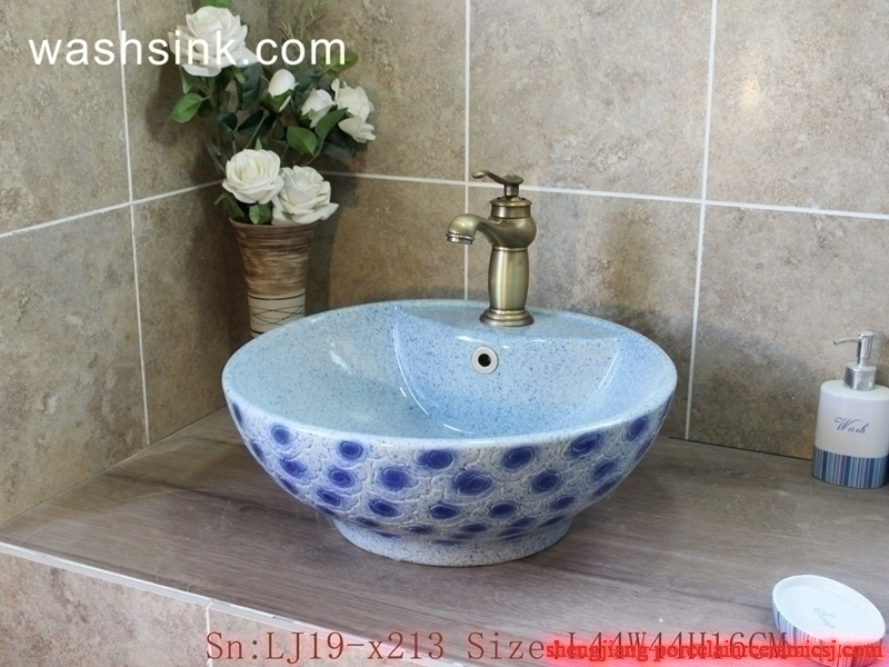 blue and white high quality  wash basin