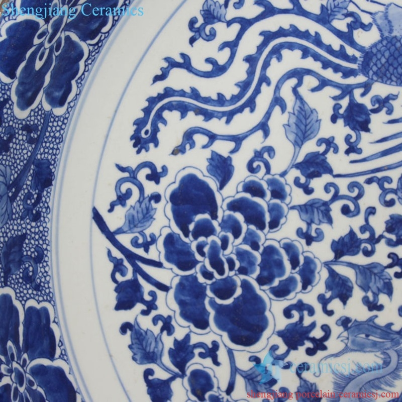 handmade elegant tabletop ceramic decorative plate