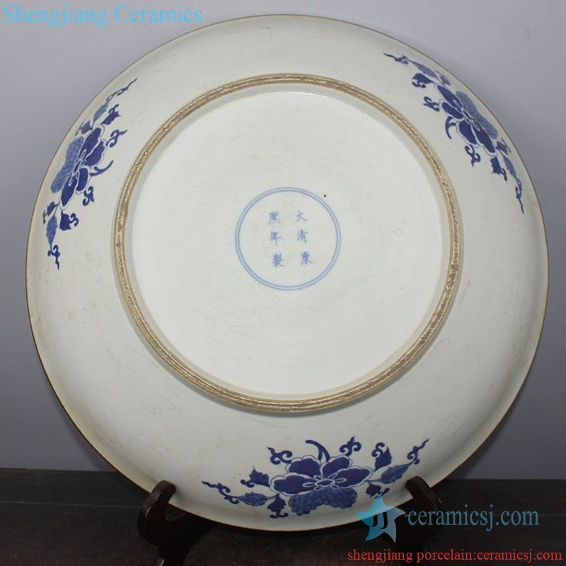 elegant tabletop ceramic decorative plate from shengjiang company