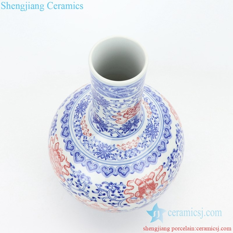 hand-painting  ceramic decorative vase from shengjiang company