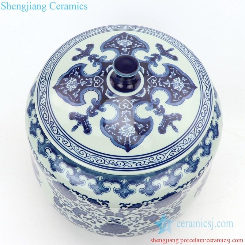 high skilled ceramic tea jar handmade by shengjiang company