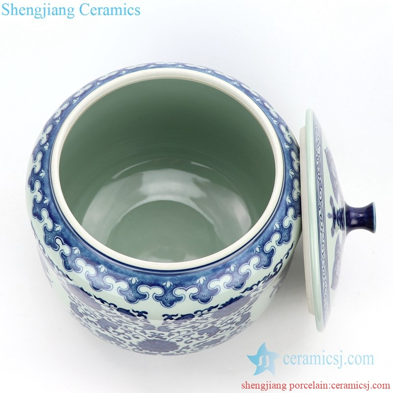 high skilled ceramic tea jar for store