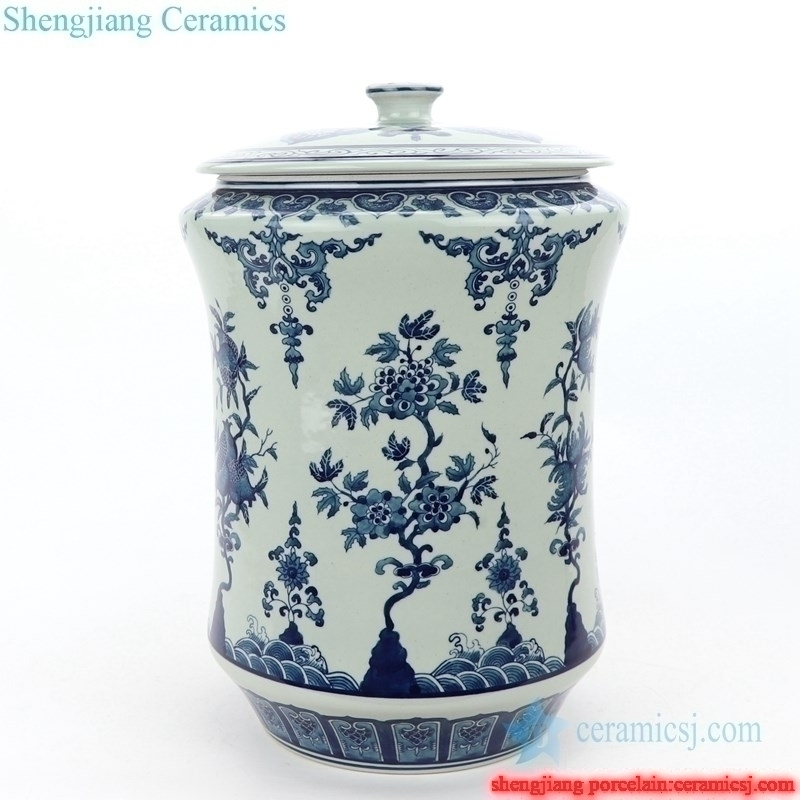 slippy handmade high quality  ceramic tea jar
