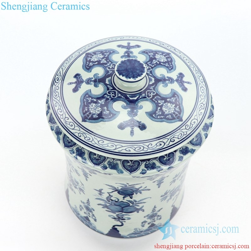 slippy ceramic tea jar with pattern