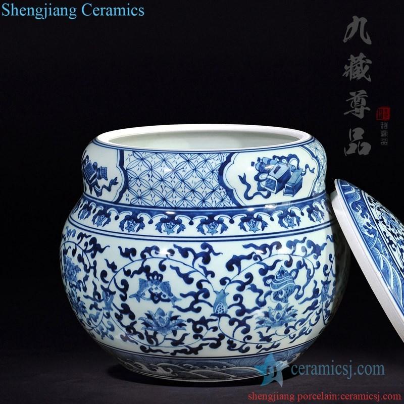 floral design handmade high quality  tea jar