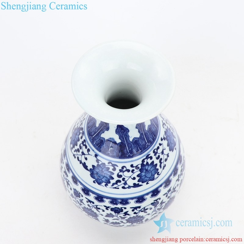 hand craft ceramic vase with pattern