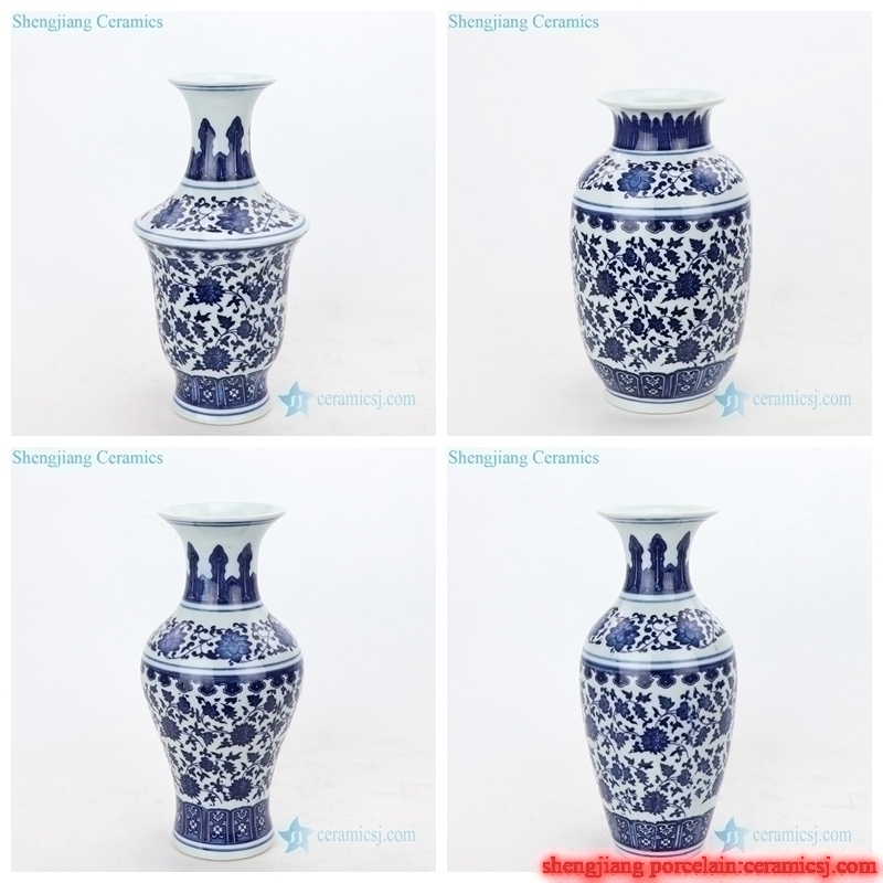 different size hand craft ceramic vase