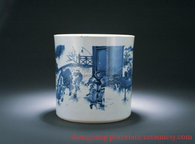 Ming Chongzhen blue and white porcelain decoration features