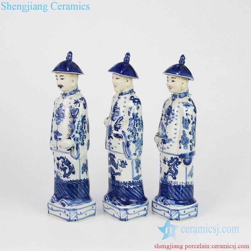 emperors blue and white porcelain figurine